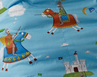 Twill Cotton Fabric Don Quixote Blue By The Yard