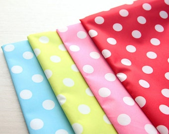 """Waterproof Fabric  0.43"""" (1.1 cm) Polka Dot in 4 Colors By The Yard"""