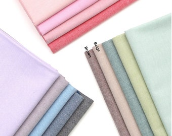 Chambray Cotton Fabric in 11 Colors By The Yard