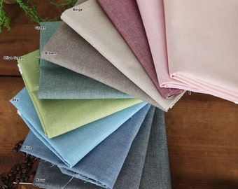 """Chambray Cotton Fabric in 11 Colors 59"""" (150 cm) wide By The Yard"""