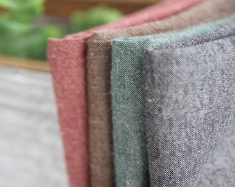Chambray Cotton Fabric in 4 Colors By The Yard
