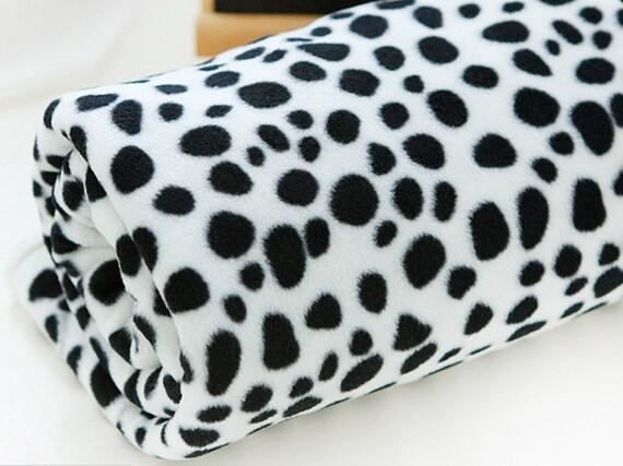 Fleece Fabric Dalmatian By The Yard
