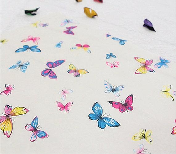 Stoff  aus China Schmetterlinge 2 Meterware