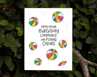 Happy Birthday Kamifusen Card | Kawaii Japanese Paper Balls Japanese Children's Toys Punny Card AAPI joy