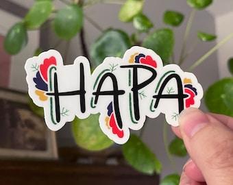 Hapa Love Sticker | Vinyl Die-cut Sticker Kawaii Hapa Pride Sticker Cute Hand-Lettered AAPI joy multi-racial hapa identity hafu Nikkei