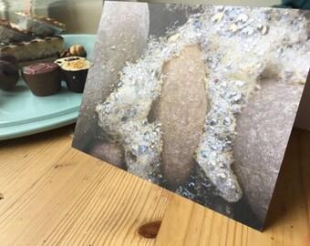Bubble rocks blank greetings card