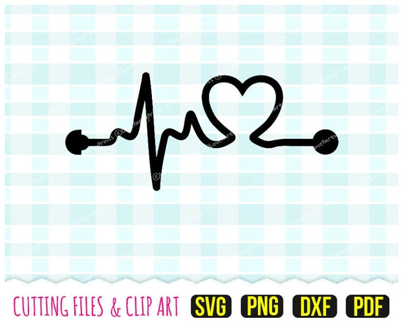 Heartbeat Ultrasound Svg Dxf Png Pdf Ultrasound Decal Etsy