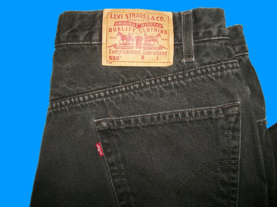 Levis 550 Relaxed - Like New - All Sizes Black Color Og7q4cl