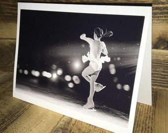 Figure Skating Photo Greeting Card