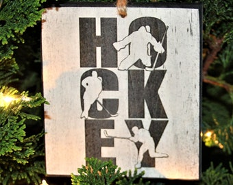 """HOCKEY"" - Ornament"