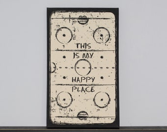 This is my Happy Place   -  Hockey Rink Canvas Art