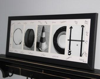 """COACH"" - Hockey Coach Letter Art Frame"