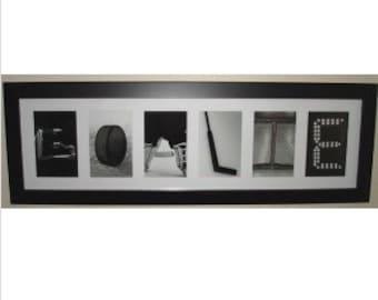 """""""GOALIE""""  Letter Art Frame"""