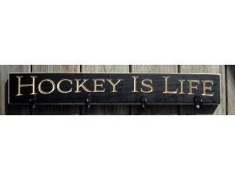 Hockey is Life  -  Coat/Mug Rack