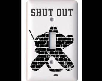 Hockey Goalie Light Switch Cover