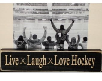 Live  Laugh  Love Hockey  -  Photo Sign