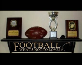 Football Trophy Shelf