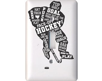 Hockey Player -  Light Switch Cover