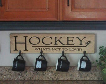 HOCKEY What's not to love? - Mug/Coat Rack