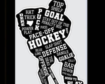 Hockey Player - Decal