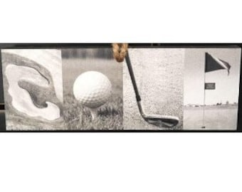 """GOLF"" Montage Ornament/Sign"