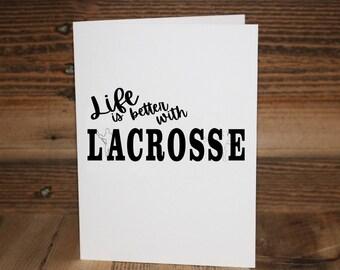 Lacrosse Greeting Card