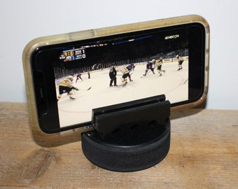 Hockey Puck Cell Phone Stand