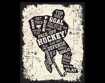 Hockey Player Canvas Art