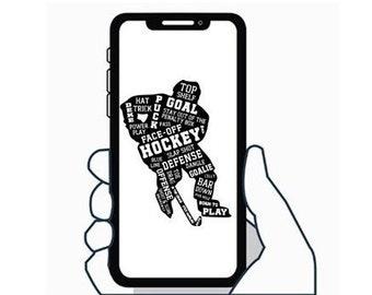 Hockey Player  - Decal