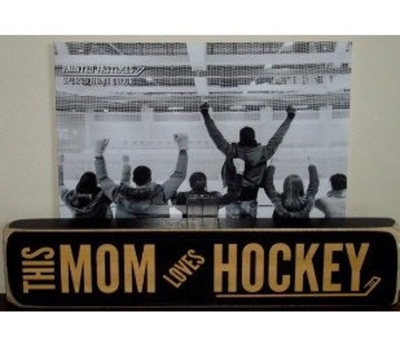 This Mom Loves her HOCKEY  -  Photo Sign