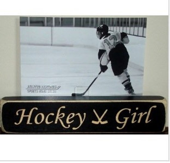 Hockey Girl - Photo Sign