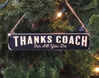 THANKS COACH  For all you do - Ornament