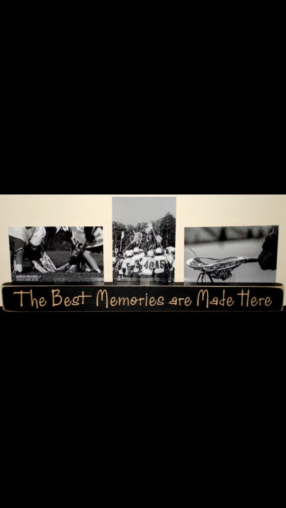 The Best Memories are Made Here  -  Triple Photo Sign