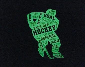 Hockey Player Pillowcase - Glow in the Dark