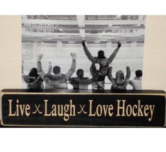 Live  Laugh  Love Hockey  -  Photo Sign
