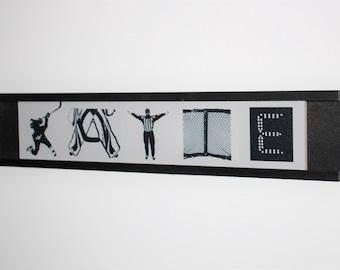 Hockey Letter Tiles - Sign