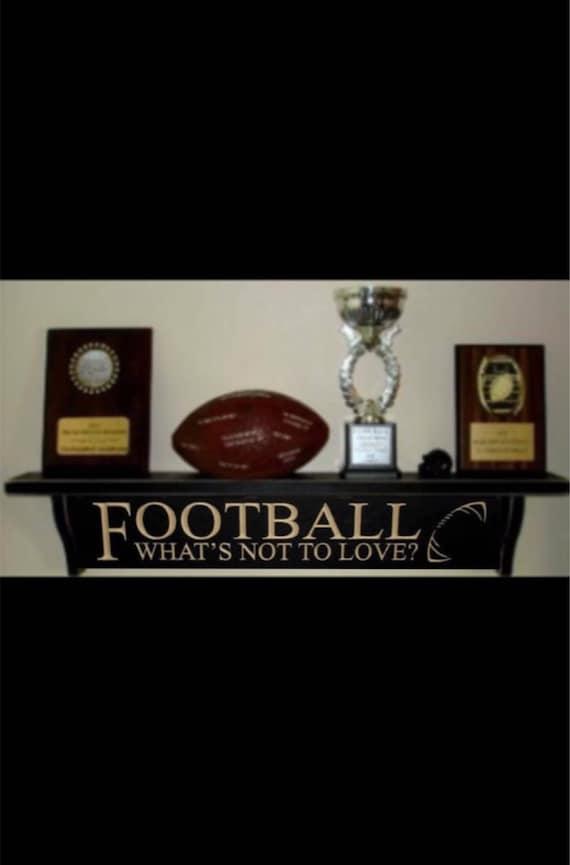 Football Trophy Shelf