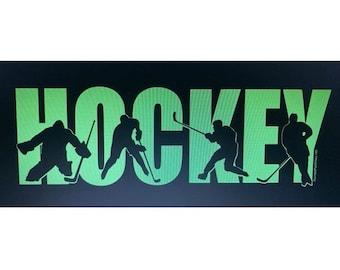"""""""HOCKEY"""" - Glow in the Dark"""