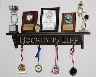 Hockey is Life - Trophy Shelf