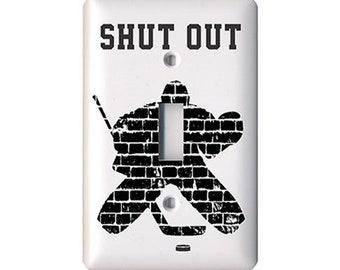 Hockey Goalie Light Switch Cover