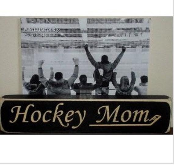 Hockey Mom  -  Photo Sign