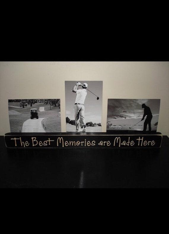 The Best Memories Happen Here - Triple Photo Sign
