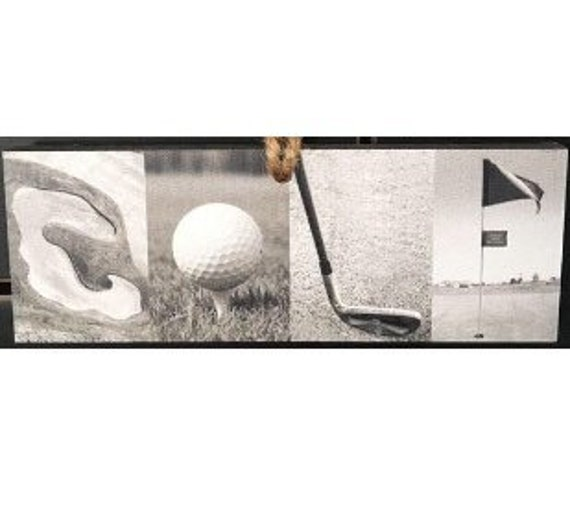 """""""GOLF"""" Montage Ornament/Sign"""