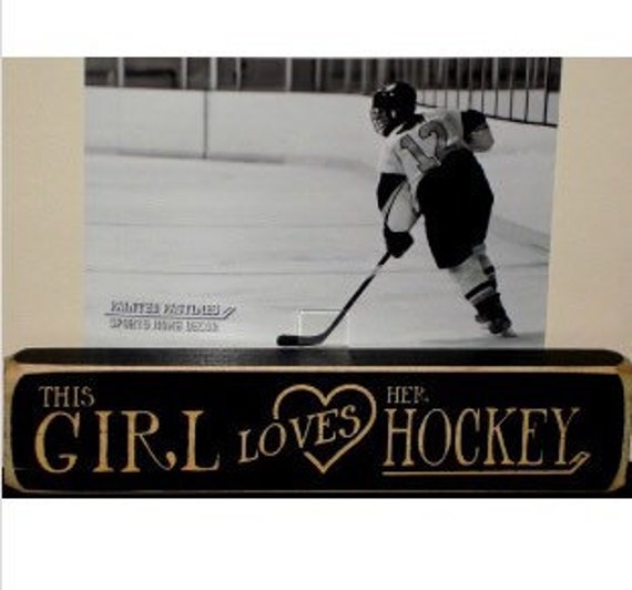 This Girl Loves Her Hockey - Photo Sign