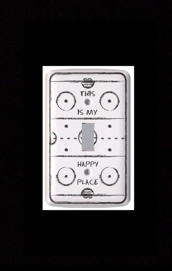 This is my Happy Place - Hockey Rink Light Switch Cover