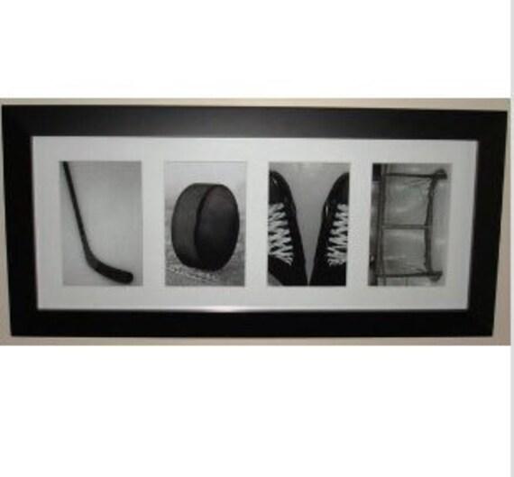 """""""LOVE"""" - Hockey Letter Art Frame"""