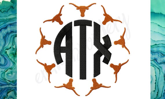 5 Sizes Ut Longhorn Monogram Frame University Of Texas Etsy