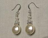 Pearl Bride Earrings, Ivory Pearl Earrings, Dangle Earrings, Bridal Pearl Earrings, Bridal Earrings, Bride Earrings