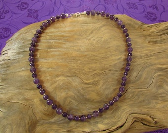 Genuine Faceted Amethyst Necklace, Amethyst Necklace, Purple Necklace, February Birthstone Necklace, Handmade Necklace, Sterling & Amethyst