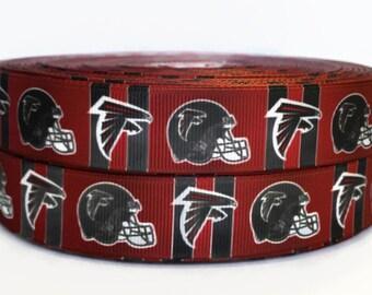 7 8 inch Grosgrain Atlanta Falcons NFL Football Ribbon 68daafa16